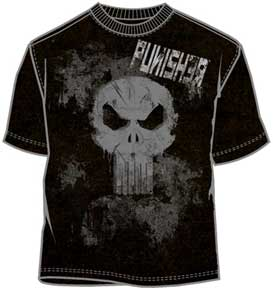 Black and Grey Mineral Wash Punisher Logo With Name