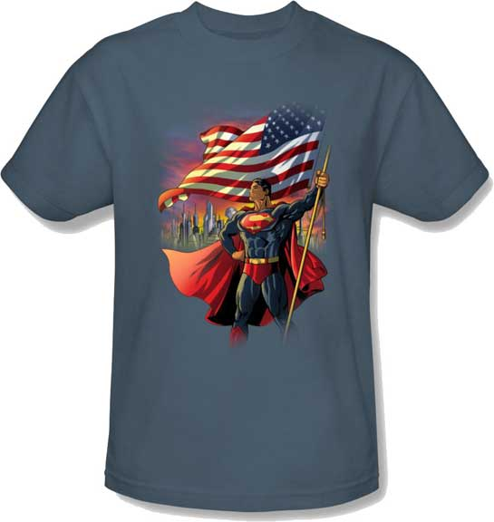 american superman t shirt superman t shirts superman. Black Bedroom Furniture Sets. Home Design Ideas