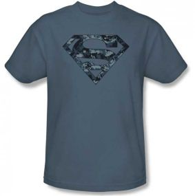 Superman - Man of Steel Biker Metal T-Shirt
