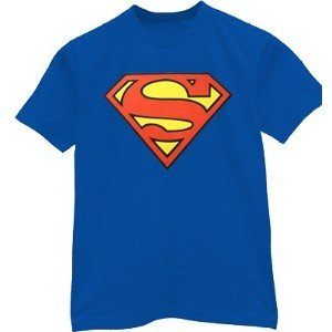 Classic red and yellow s shield Superman t-shirt