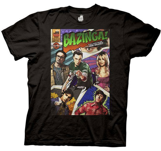 Classic Book Cover Tee Shirts : Big bang theory bazinga comic book cover shirt the bing
