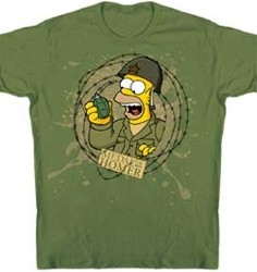 Medal Of Honor Homer Simpson Army Tee Shirt