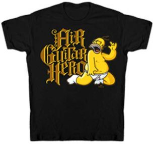 Guitar Hero Homer Simpson Tee Shirt