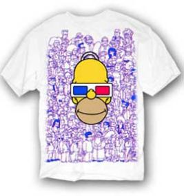 Homer 3d simpsons t shirt for Simpsons t shirts online