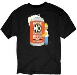 Beer Logo Simpsons Tees