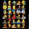 Montage The Simpsons Faces Tee Shirt
