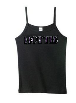 Women's Hottie Rhinestone Tank Top