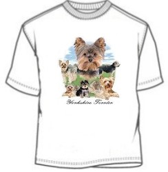 Montage Yorkie dog breed tee shirt