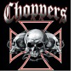 Choppers skull with iron cross biker tee