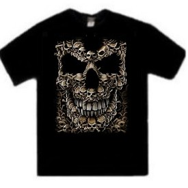 Many Skulls Skull Face Tees