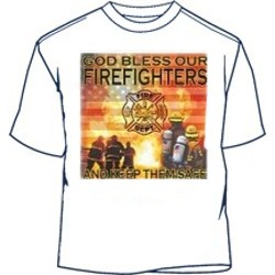 God Bless Our Firefighters Fireman Shirts