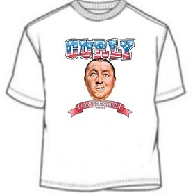 3 Stooges Curly T-Shirts