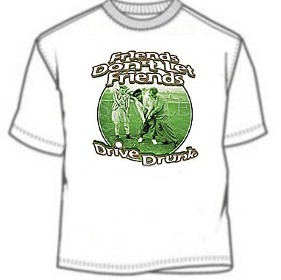 Three Stooges Drive Drunk Golf T-Shirts