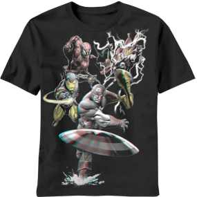 Marvel Hero Team All Out Striking Tee